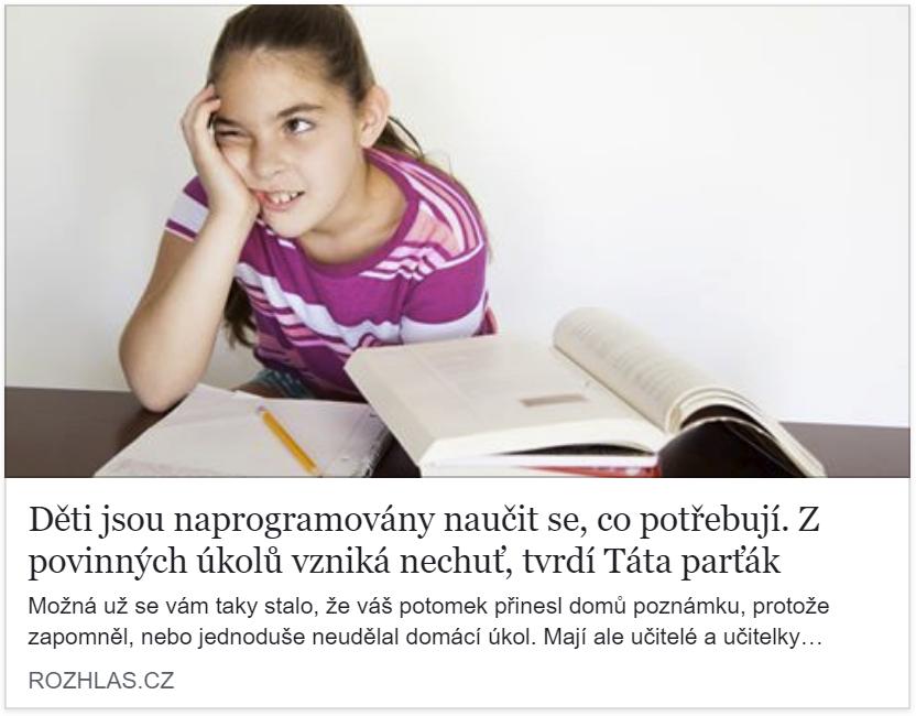 Táta parťák v Českém Rozhlase Plus na téma DÚ